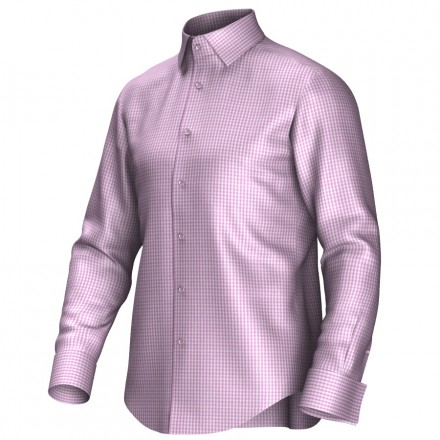 Maatoverhemd roze/wit 53328