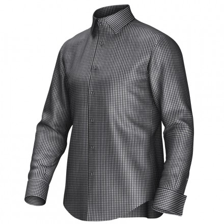 Chemise noir/blanc 53334