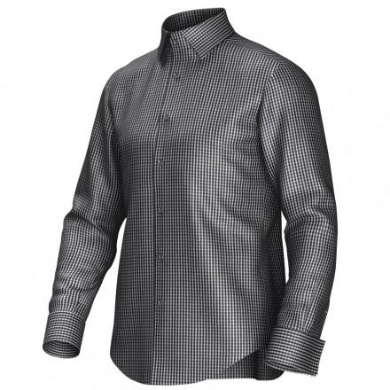 Maatoverhemd zwart/wit 53334