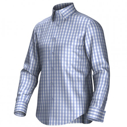 Maatoverhemd blauw/wit 53193