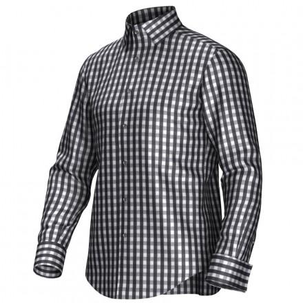 Zwart Wit Geruit Overhemd.Geruit Overhemd Op Maat In De Kleur Zwart Wit Van 100 Katoen