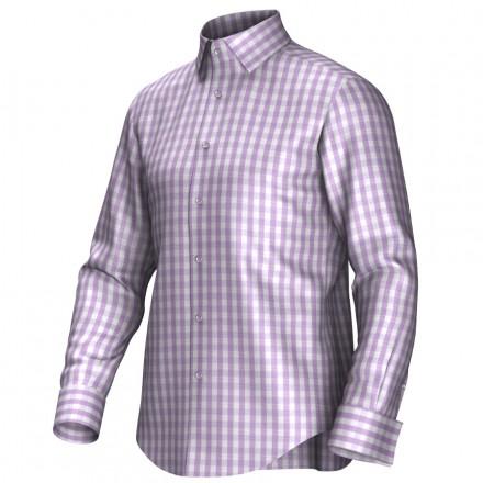 Maatoverhemd roze/wit 53195
