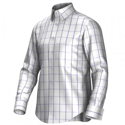 Maatoverhemd wit/lila 53245