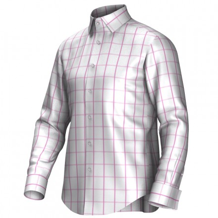 Bespoke shirt white/pink 53244