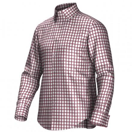 Maatoverhemd wit/bruin 53298