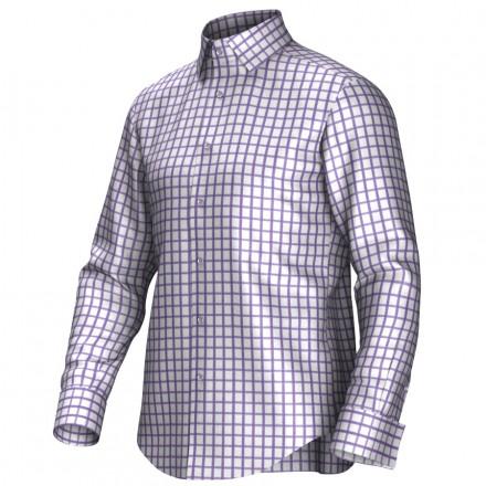 Maatoverhemd wit/lila 53299
