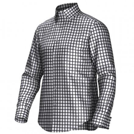 Maatoverhemd wit/zwart 53300