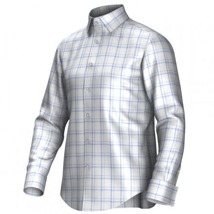 Chemise blanc/bleu 53309