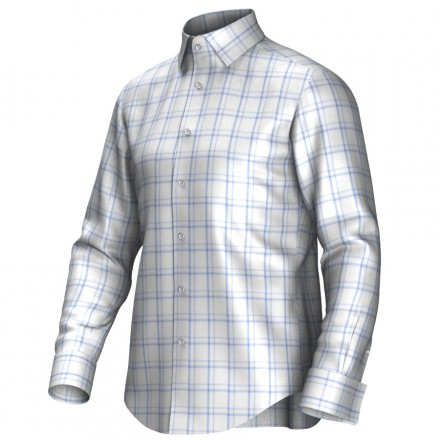 Bespoke shirt white/blue 53309