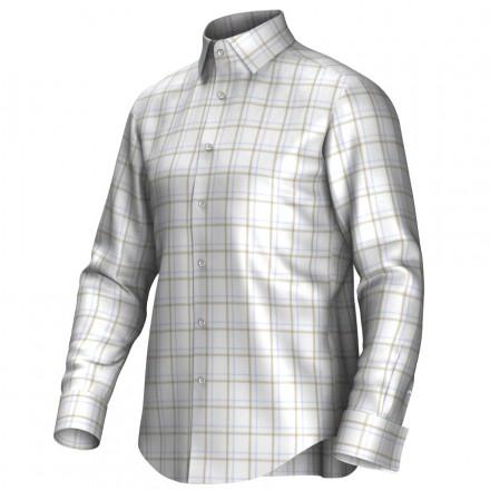 Chemise blanc/braun/bleu 53311