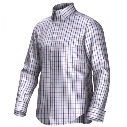 Chemise blanc/bleu/pourpre 53306