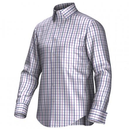 Maatoverhemd wit/blauw/lila 53306