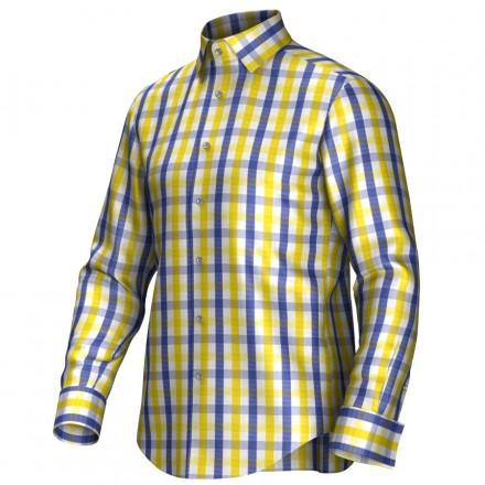 Maßhemd gelb/blau 53112