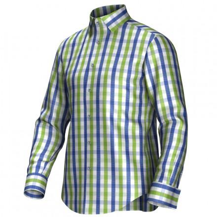 Maßhemd blau/grün 53272