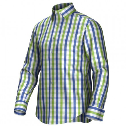 Bespoke shirt blue/green 53272