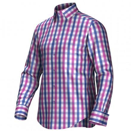 Maßhemd pink/blau 53271
