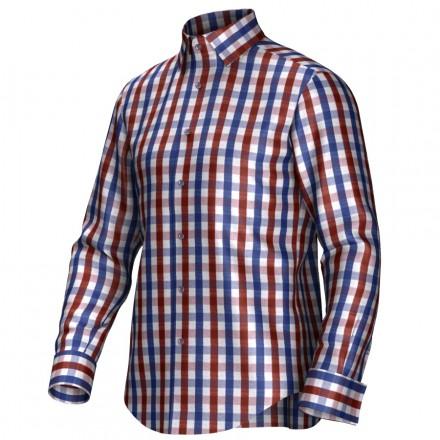 Maatoverhemd rood/blauw 53269