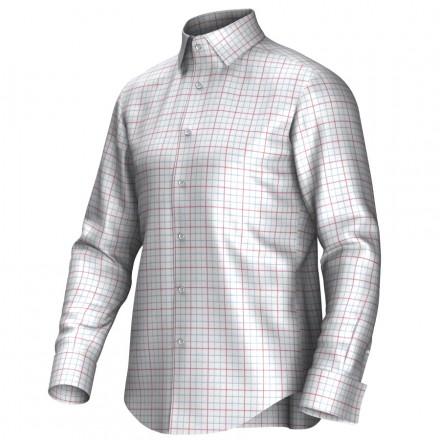 Bespoke shirt white/red/blue 55286