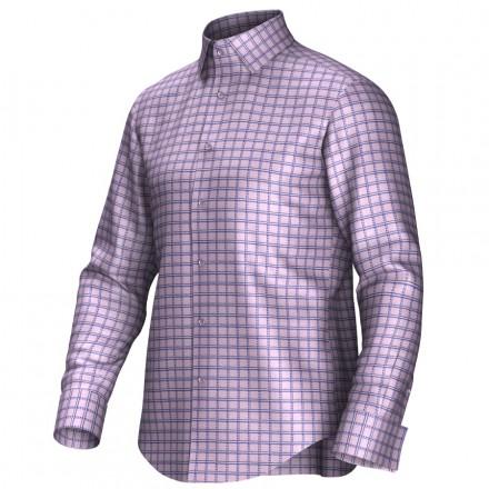 Maatoverhemd roze/blauw 55266