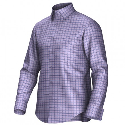 Bespoke shirt lila/blue 55268