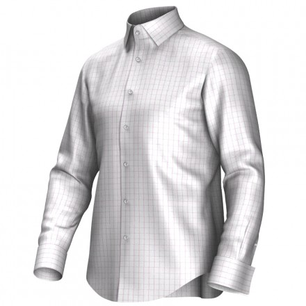 Bespoke shirt white/pink 55290