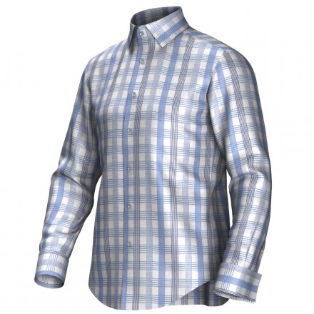 Bespoke shirt blue/grey/white 55275