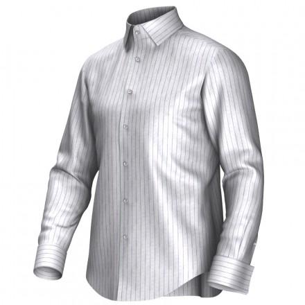 Chemise blanc/pourpre 55306