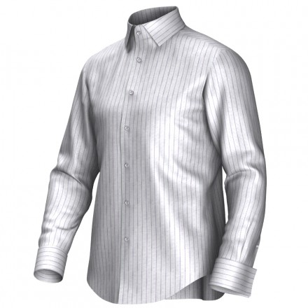 Maatoverhemd wit/lila 55306