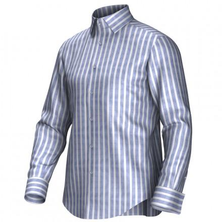 Maßhemd blau/weiß 55311