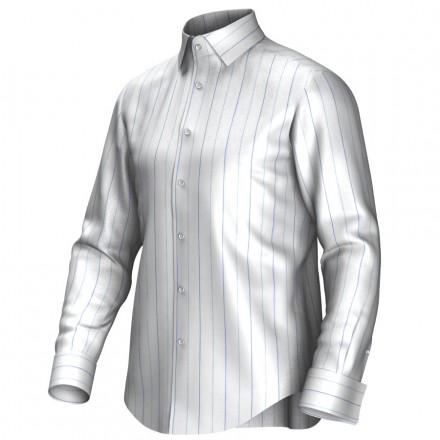 Maatoverhemd wit/blauw 55316