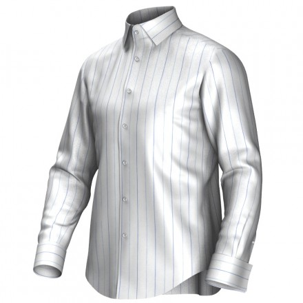 Bespoke shirt white/blue 55316