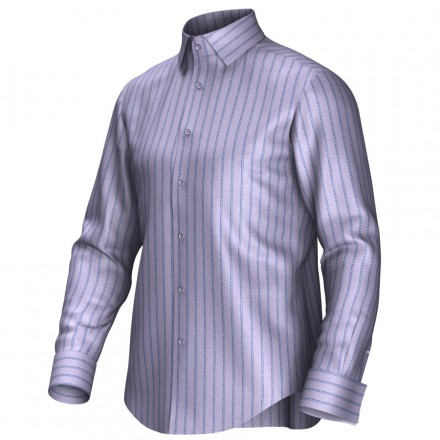 Bespoke shirt lila/blue 55269