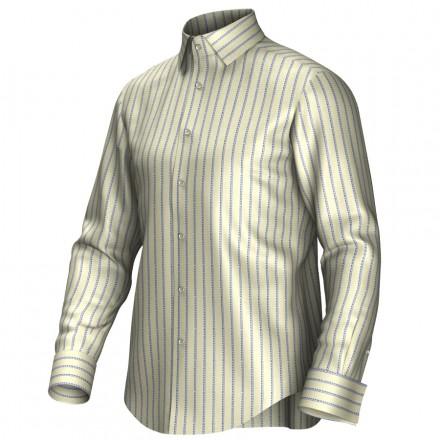 Bespoke shirt yellow/blue 55271