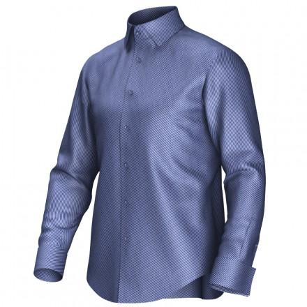 Maatoverhemd blauw 52144
