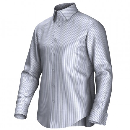 Bespoke shirt white/blue 54376