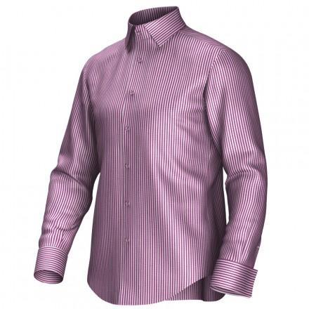 Maatoverhemd wit/rood 54384